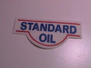 STANDARD OIL GAS GASOLINE SERVICE STATION ATTENDANT AUTOMOBILE CAR CANVAS PATCH