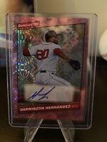 2020 Donruss - Darwinzon Hernandez - PINK Holo Parallel 24/199 - Autograph Card