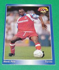 ABEDI PELE FOOTBALL CARD 1994-1995 PANINI OLYMPIQUE LYON OL GERLAND