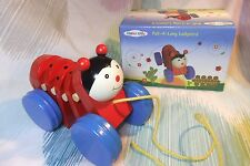 Wooden Children's Red Toy Ladybird Pull a long for Toddlers! Pull along & Listen
