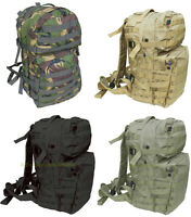 British Army Tactical Combat Rucksack Pack Day Bergen Molle Black Green 40 L New