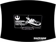 DISPLAY PLAQUE for Star Wars Land Speeder kenner POTF Models, etc Clear acrylic!