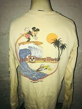 VTG 70S 80S MEDIUM MICKEY MOUSE WALT DISNEY WORLD TROPIX LONG SLEEVE SURF SHIRT