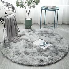 Circle Round Shaggy Fluffy Anti-Skid Rug Any Room Bedroom Carpet Floor Mat Decor
