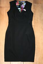 NEW&TAGS TED BAKER black pencil dress SIZE 2 10 party wedding LBD panel detail