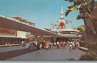 Postcard Disneyland Magic Kingdom Peoplemover Tomorrowland Anaheim CA