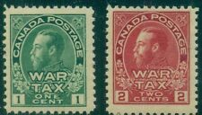 CANADA #MR1-2 1¢ & 2¢ War Tax Stamp, og, NH, VF