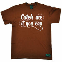 Catch Me If You Can MENS Drowning Worms T-SHIRT tee birthday gift fish fishing