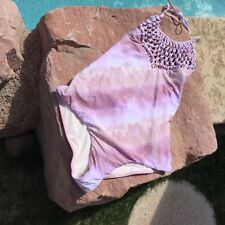 BILLA BONG ONE PIECE SWIMSUIT PINK SHADES- LARGE NEW
