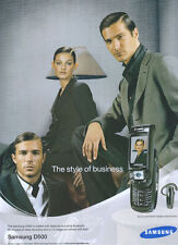 """Samsung D500 """"The Style Of Business"""" 2005 Magazine Advert #3156"""