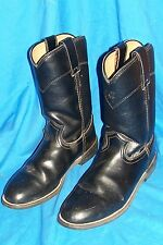 Women's Size 5 ½ C Justin Roper Boots Cowboy Western Ladies 5.5 Black Wide Ranch