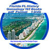 160 Books DVD Florida FL People Cities Towns History Genealogy
