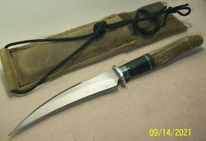 1990s~GRECO~HAWKBILL FIGHTER~UNUSED~HIGH END CUSTOM FIGHTING KNIFE +ORIG. SHEATH
