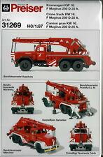 Preiser 31269 Kranwagen KW 16 F Magirus 250 D 25 A Bausatz HO 1:87 NEU