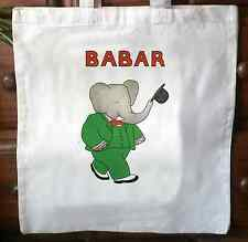 Babar tote bag shopper vintage Tote Bag Shopper Bag 03