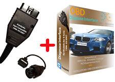 DIAGNOSE INTERFACE für BMW +OBD1 EDIABAS INPA als Komplettset für E38/39 E46 E36