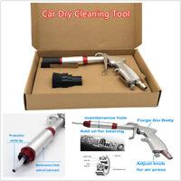 Car Air Dry Cleaning Gun Tornado Pneumatic Spray Dirt Washing Tool w/ Brush Head