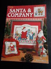 Santa & Company Cross Stitch Leaflet ~ Leisure Arts ~ 1999