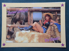 'Texas Cowgirl - It's Great' Postcard 5 x 7 Heavy Card Stock Late 90's FREE SHIP