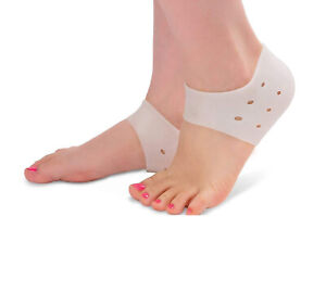 Heel Cups Protector Plantar Fasciitis Inserts Silicone Socks Insoles Gel Pads