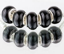 5PCS SILVER MURANO Cat's Eye BEAD Fit European Charm Bracelet Making #D493