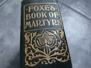 Antique Foxes Book Of Martyrs Christianity Bible Religion Theology