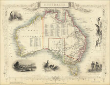 Australia, by Tallis 1851 - an enlarged reproduction