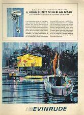 B- Publicité Advertising 1965 Moteur bateau Hors bord Evinrude