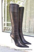 LORIBLU Black Leather Boots gr. EUR 38