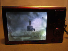 Sony Cyber-shot DSC-W510 12.1 MP Digital Camera - Red-WORKS-LCD BLEMISHES