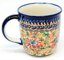 Polish Pottery Coffee Mug 12 Oz. Gu1105/312 From Zaklady Boleslawiec