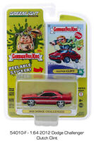 Clutch Clint Red 2012 Dodge Challenger Garbage Pail Kids GREENLIGHT DIECAST 1/64