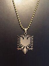 Shqiponja Albanischer Adler in Gold mit gratis Kugelkette