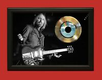 Tom Petty The Waiting Art Poster Wood Framed 45 Gold Record Display C3