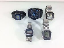 Vintage Lot of Casio Watches Model A178W AE-1200WH A168 F105 5255