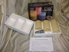 3 Piece Luma Scent Color Changing Flameless Wax Candles Set with remote control