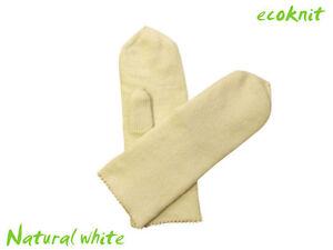 Mittens 100% MERINO WOOL adult men women arm warmers knitted knit double winter
