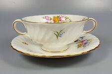 MINTON MARLOW S309 CREAM SOUP COUPE / CUP AND SAUCER (PERFECT)