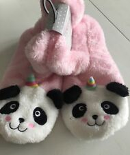 Ladies Panda Unicorn Slippers Boots Size 3 4 5 Stocking Filler