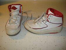 Nike Jordan 2 II Retro Bp Ps Little Kids 395719-102 White Red Shoes Youth Sz 11C