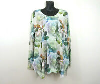 Soft Surroundings Large Long Sleeve Vintage Rose Floral Tunic Top