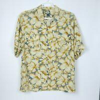 Tommy Bahama Men's Large Hawaiian Button Shirt  Floral Pattern 100% Rayon LG L