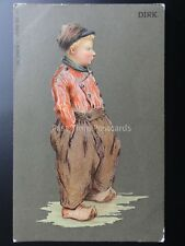Greeting: A Dutch Boy DIRK - W.De Haan - Utrecht c1907