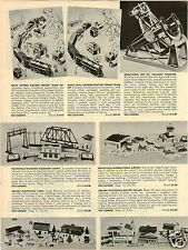 1957 PAPER AD Marx Toy Electric Train Set Smoking Freight Plasticville Telescope
