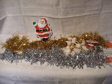 Lot Articles Decoration Fetes Noel : Pere Noel - Boules Guirlandes Et Decos