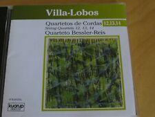 VILLA-LOBOS - String Quartets 12-14 - CD Album - Quarteto Bessler-Reis