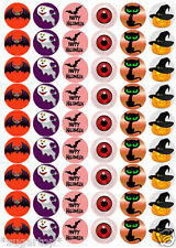 HALLOWEEN MIX -  54 x Edible Cup Cake Toppers ~  Wafer Rice Paper