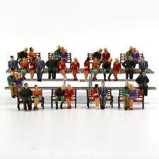 P4805 32 All Seated Figures O Scale 1 48 Painted People Model Railway