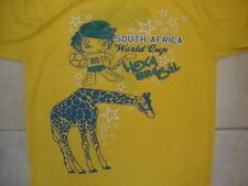 South Africa World Cup Hexa Brasil 2010 Brazil Soccer Futbol Ringer T Shirt M