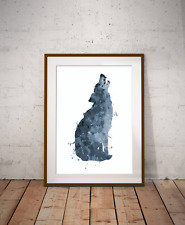 Wolf Howling Art Print, Inspired By Nature, Winter Wolf, Home Decor, Animal Art